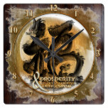 THE PROSPERITY CONNEXION : Art of Fengshui Square Wall Clock