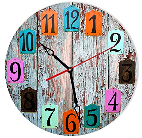 SofiClock 12″ Vintage Wall Clock With Arabic Numerals, Best Wooden Wall Decor