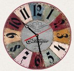 SofiClock Vintage Wall Clock 12″ With Arabic Numerals, Best Wooden Decor
