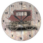 STAGE COACH LARGE CLOCK