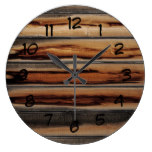 Wood Fence Texture Cool Unique Large Clock