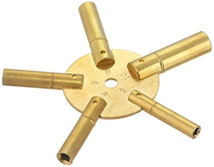 Clock Winding Key – Brass (EVEN) Antique and Grandfather Key (EVEN) from Brass Blessing