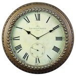 Derby Chatelet Decorative Wall Clock, Vintage Unique Wall Clock for Outdoor and Home Decor, Gold