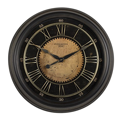 Studio Designs Home 73001 24″ Classic Villa Wall Clock,Antique Bronze
