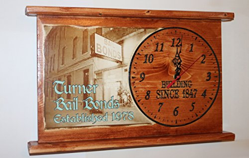 Special Order CNC Engraved Victorian Clock Personalized Wall or Mantel