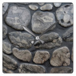 Michigan petoskey stone background square wall clock