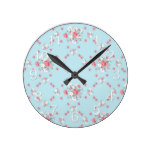 Rustic Country Shabby Chic Baby Shower Infant Round Clock