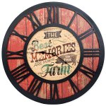 The Best Memories Are Made On the Farm Vintage Wood Look Wall Clock