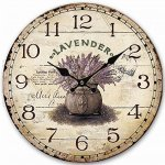 Rustic Wooden Clock, Eruner Retro Antique Style 14-inch Wall Clocks Watches Timepieces for Kitchen Wall Living Room Beauty Room Newly Decorated Office Wall Clock