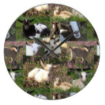 Baby Goat Kid Farm Barnyard Animals Farmhouse Art Large Clock