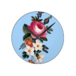Retro Rose Flower Watercolour Painting Round Clock