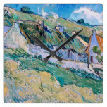 Vincent Van Gogh – A Group of Cottages Square Wall Clock