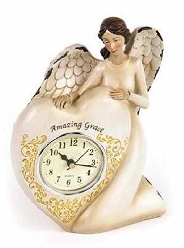 Manual Woodworkers & Weavers 104481 Clock – Amazing Grace Angel – 6