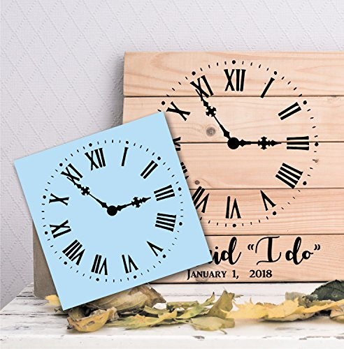 Rustic Clock Stencil, Paint Your Own Sign, Reusable & Thick, Steampunk Design by Barn Star, Set The Time to a Wedding, Birth Or Special Event