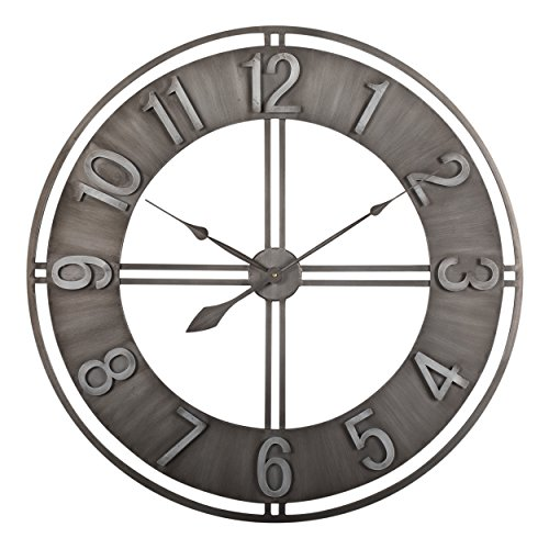 Studio Designs Home 73003 Industrial Loft Metal Decor Wall Clock, Steel, 30″