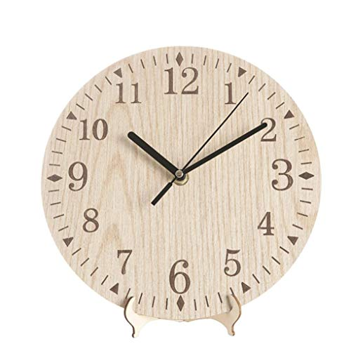 Loneflash Wooden Look Wall Clock,Vintage Rustic Antique Shabby Retro Large, Round & Easy to Read, Decorative for Living Room, Office, Classroom
