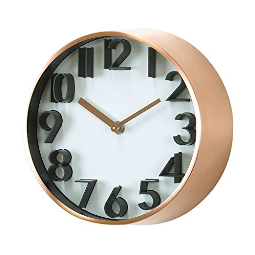 Time Concept Metal Wall Clock – Universal – Copper – 8″