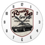 Route 66 Garage Large Clock