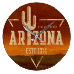 Vintage Arizona cactus wall clock