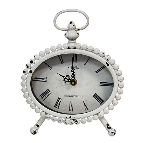 Stratton Home Decor — Dropship, us home, SUHQX Stratton Home Decor Allie Table Clock, White