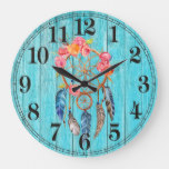 Rustic Dreamcatcher Round (Large) Wall Clock