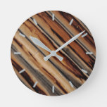 Wood Fence Texture Cool Unique Round Clock