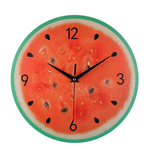 BB67 Kitchen Wall Clock,Silent Sweep Modern Elegant Fruit Creative Digital Clock Home Decoration Gift Home/Office/School Clock (30cm X 30cm, D)