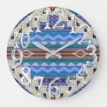601, (Hantaywee) Tribal, Southwest, Sioux Lakota Large Clock