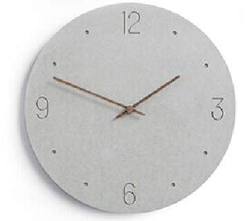 NEW Slient MDF Wooden Wall Clock Modern Design Rustic Shabby Clock Quiet Art Watch Home Decoration T9710D-LG 12 inch