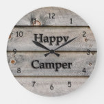 Happy Camper Large Clock