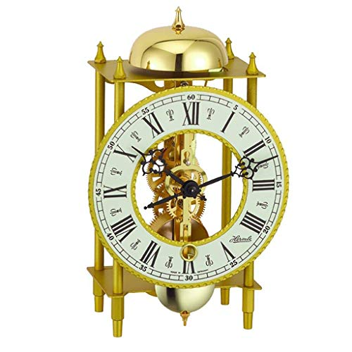Qwirly LAHR Mechanical Mantel Clock #23004000711 by Hermle – Skeleton Antique Table Clock with Pendulum and Chimes