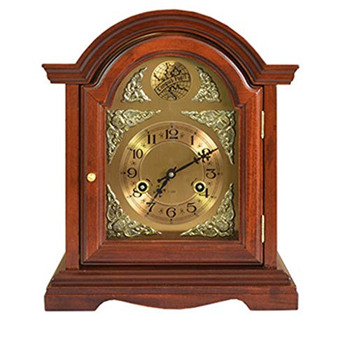 Desk Clock Table Clock for Living Room Decor Bedrooms Bathroom Battery Operated Analog Non-Ticking Silent Decorative Manual Machine
