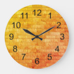 Beautiful Rustic Brick wall Texture Large Clock