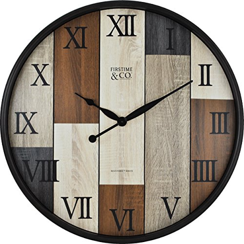 FirsTime 00268 Timberline Wall Clock, Natural Wood