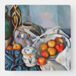 Paul Cezanne – Still Life With Apples Square Wall Clock