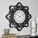 FirsTime 99659 Rosette Wall Clock, Oil Rubbed Bronze