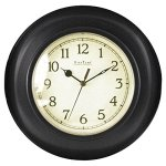 FirsTime 25522 Bronze Plastic Wall Clock, Oil Rubbed