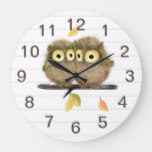 Baby Owls Wall Clock
