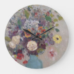 Odilon Redon – Vase Of Flowers Large Clock