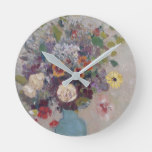 Odilon Redon – Vase Of Flowers Round Clock