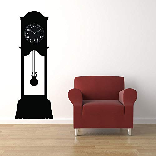Grandfather Clock Large Unique Rustic Oversized Clock Wall Decal Home Decor Bedroom Wall Art Father Time Clock Face Lodge Cabin Made in USA