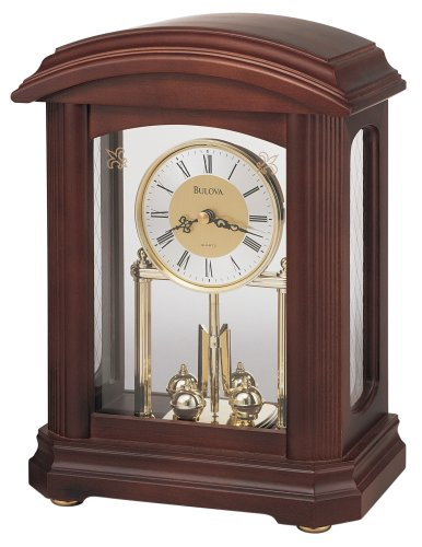 Bulova B1848 Nordale Clock, Walnut Finish