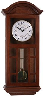 Best Pendulum Wall Clock, Silent Decorative Wood Clock With Swinging Pendulum, Battery Operated, Large Dark Cutout Wooden Design, For Living Room, Kitchen, Office & Home D?cor, 27 x 11.5 inches