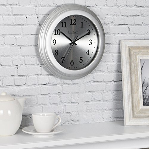 FirsTime & Co. 10035 Sleek Steel Wall Clock, 8.5″,