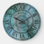 Rustic Antique Shabby Chic Vintage Roman Numeral Large Clock