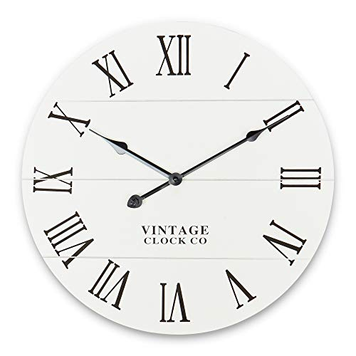 Rustic Wall Clock – Kitchen/Home/Farmhouse/Dining Room/Vintage/Grandfather Clocks – Decorative Wooden Clock – Modern Decor – Round Decoration – Farm House Wallclock – Vintage Kitchen Clock – Classroom