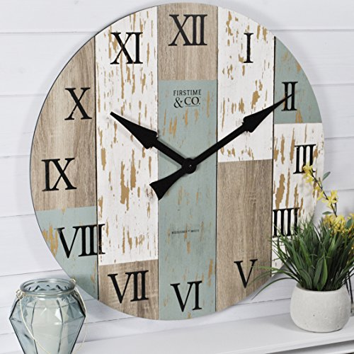FirsTime & Co. Timberworks Wall Clock, 27″, Multicolor