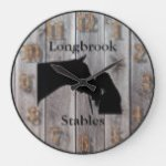 A Horses Love 3 Customizable Barnwood Styled Large Clock