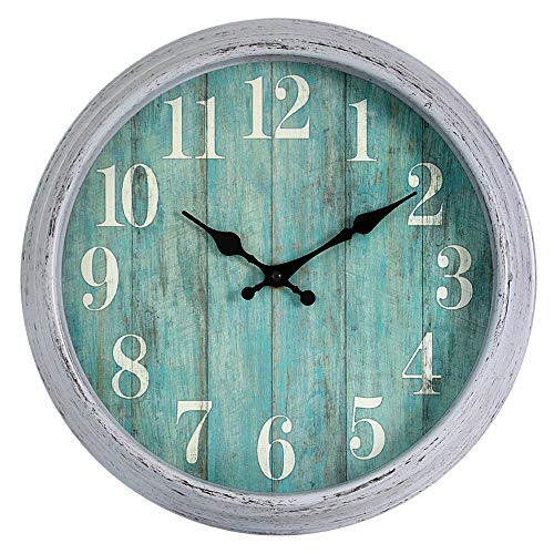 HYLANDA 12 Inch Retro Vintage Classic Wall Clock, Silent Wall Clocks Battery Operated Non Ticking Decorative for Kitchen Home Living Room Office Bathroom(Gray)