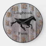 Farm Ranch or Stable Name 3 Custom Barnwood Styled Large Clock